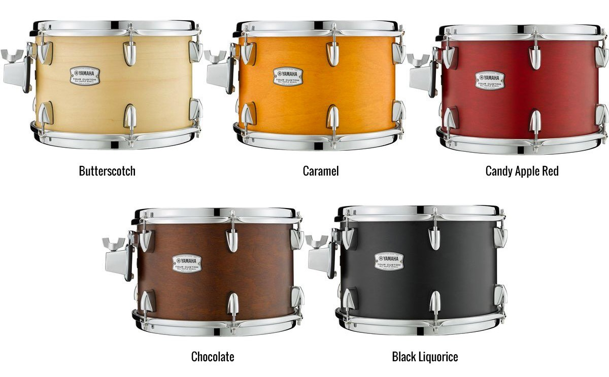 The series features five new beautiful 'Candy Inspired' Satin finishes: Butterscotch, Caramel, Candy Apple Red, Chocolate and Black Liquorice.