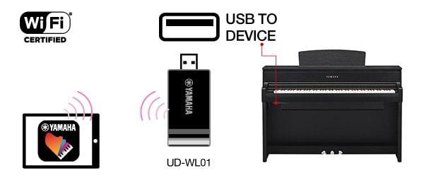 B. Maak draadloos verbinding via wifi. *Verschilt per land